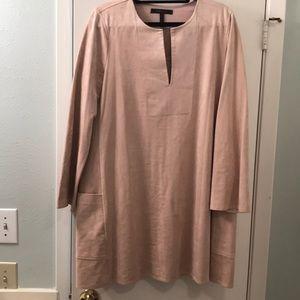 Pink suede long sleeve BCBG dress